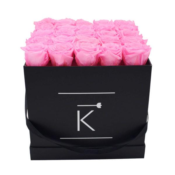 Rosenbox in Square mit Pinke Rosen