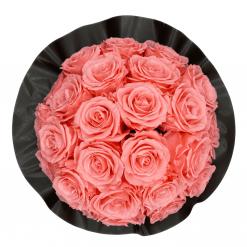 Gorgeous Rosenbox schwarz, pinke Rosen, Ansicht von oben
