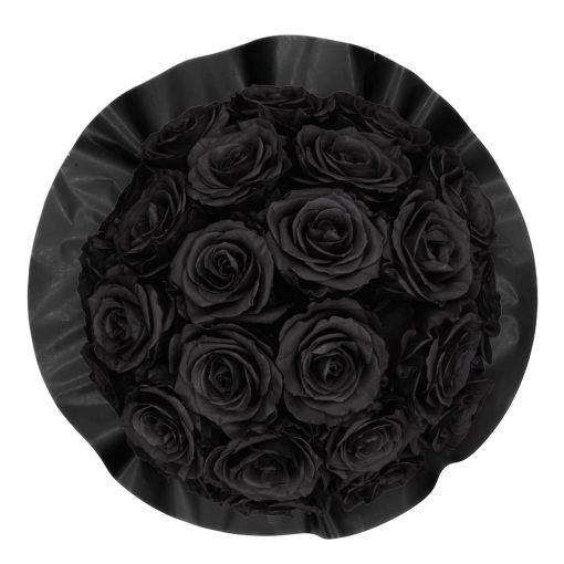 Gorgeous Rosenbox schwarz, schwarze Rosen, Ansicht von oben