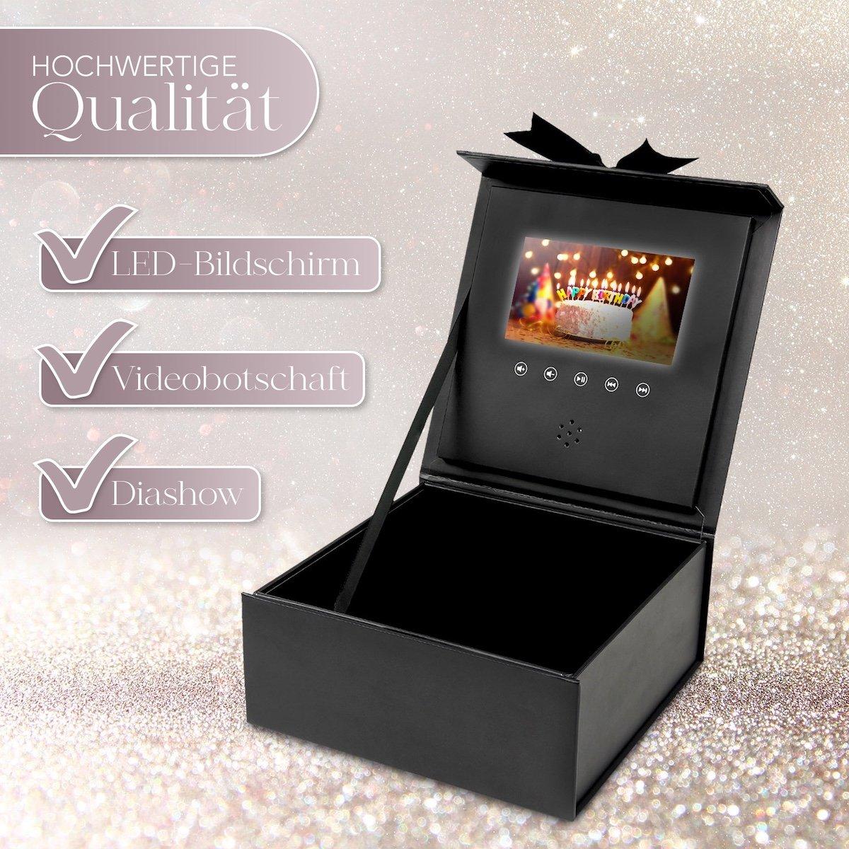 Geöffnete Geschenkbox mit Video