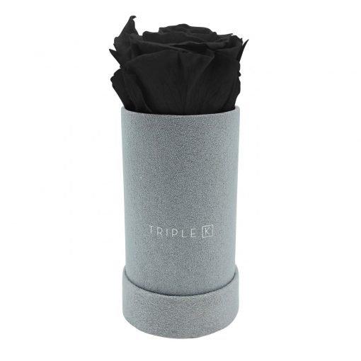 Rosenbox mit einer schwarzen Infinityrose