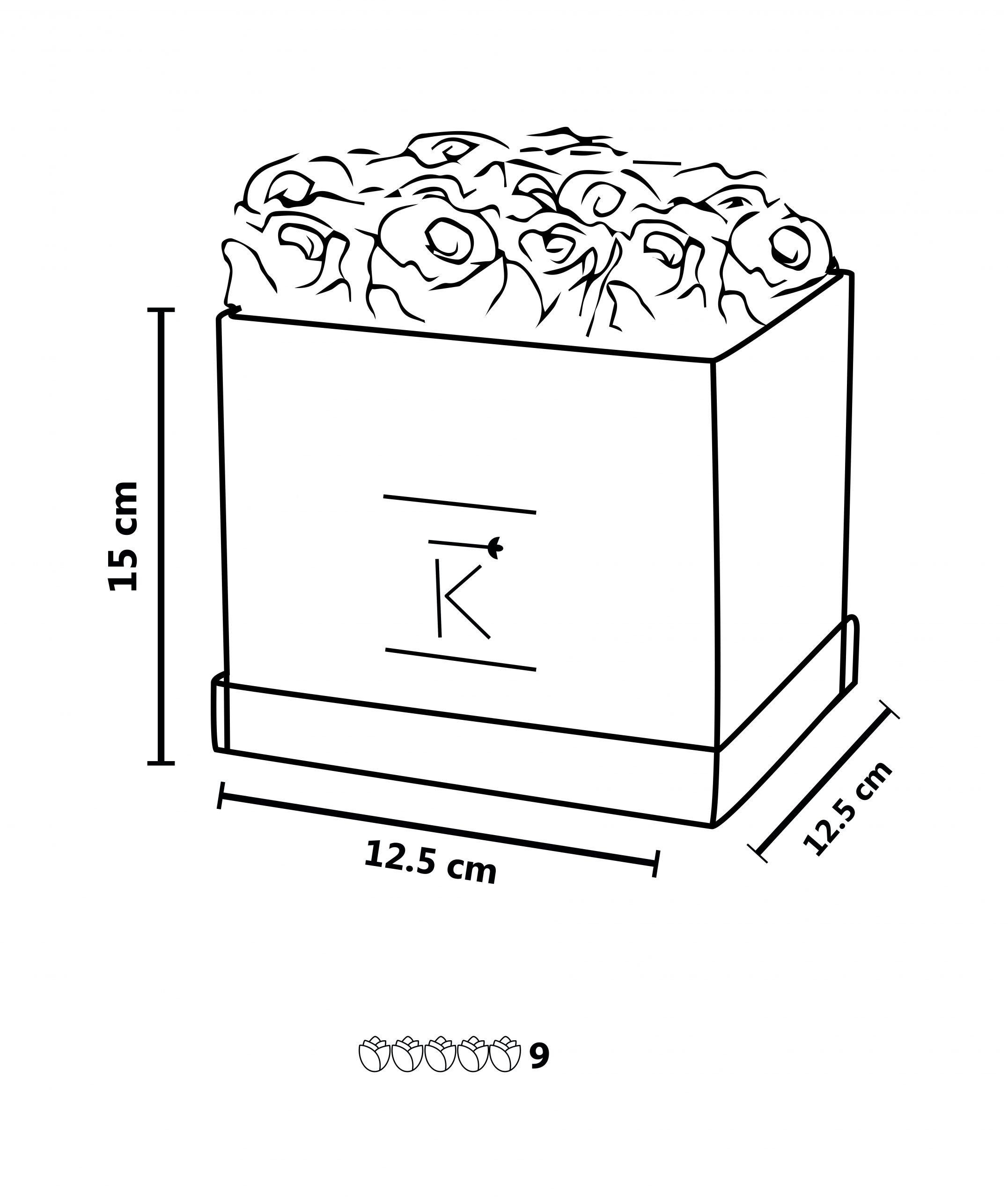 Größentabelle round Rosenbox infinity rose